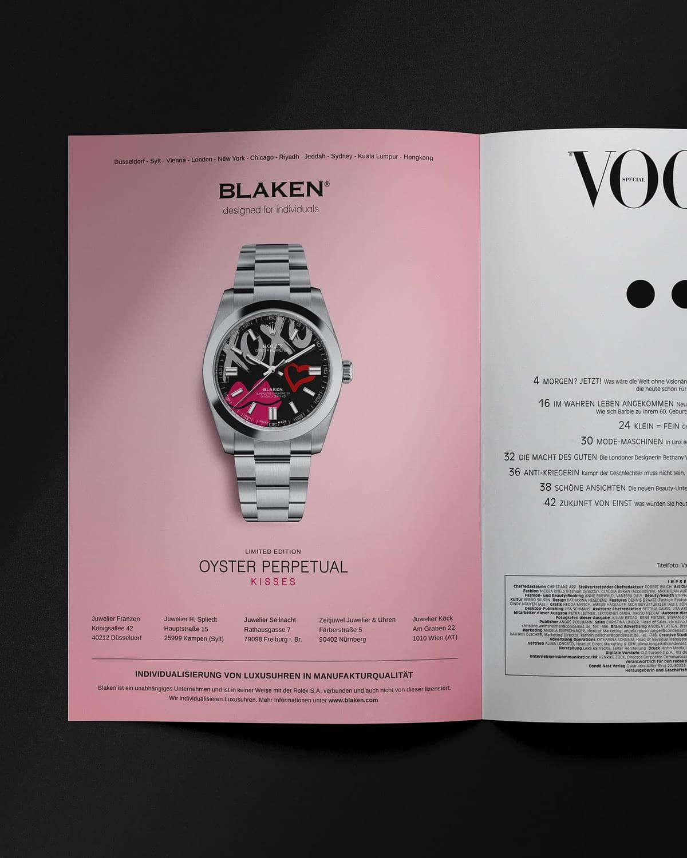 design magazin anzeige für blaken