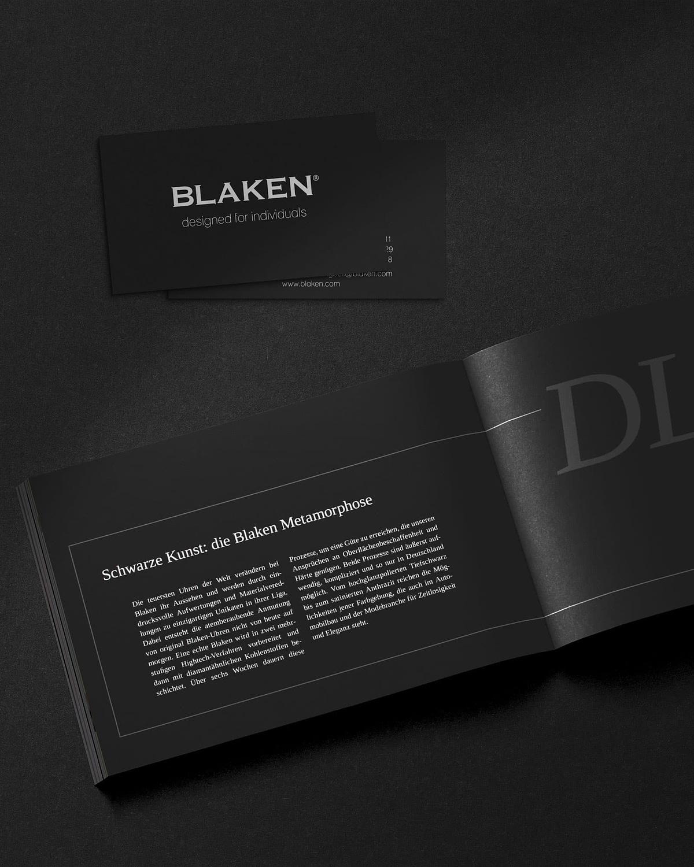 visitenkarten katalog design für blaken