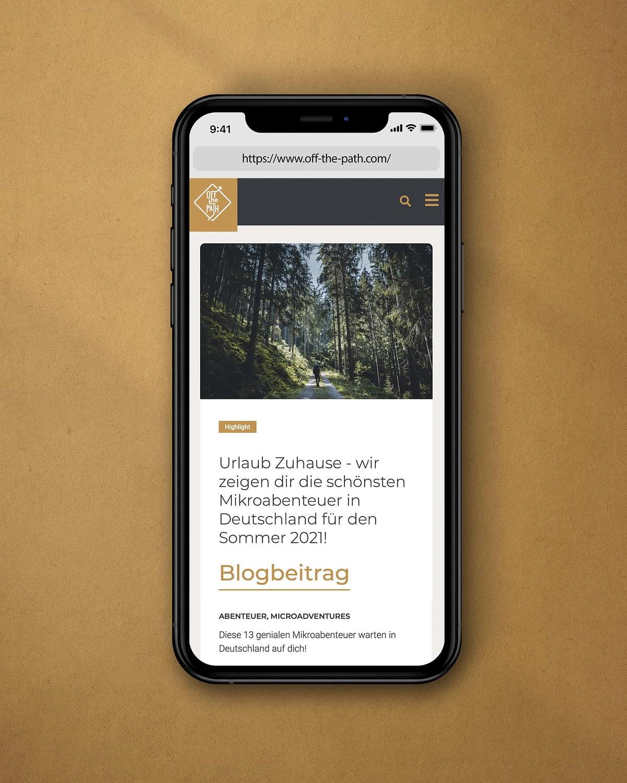 responsive webdesign für offthepath