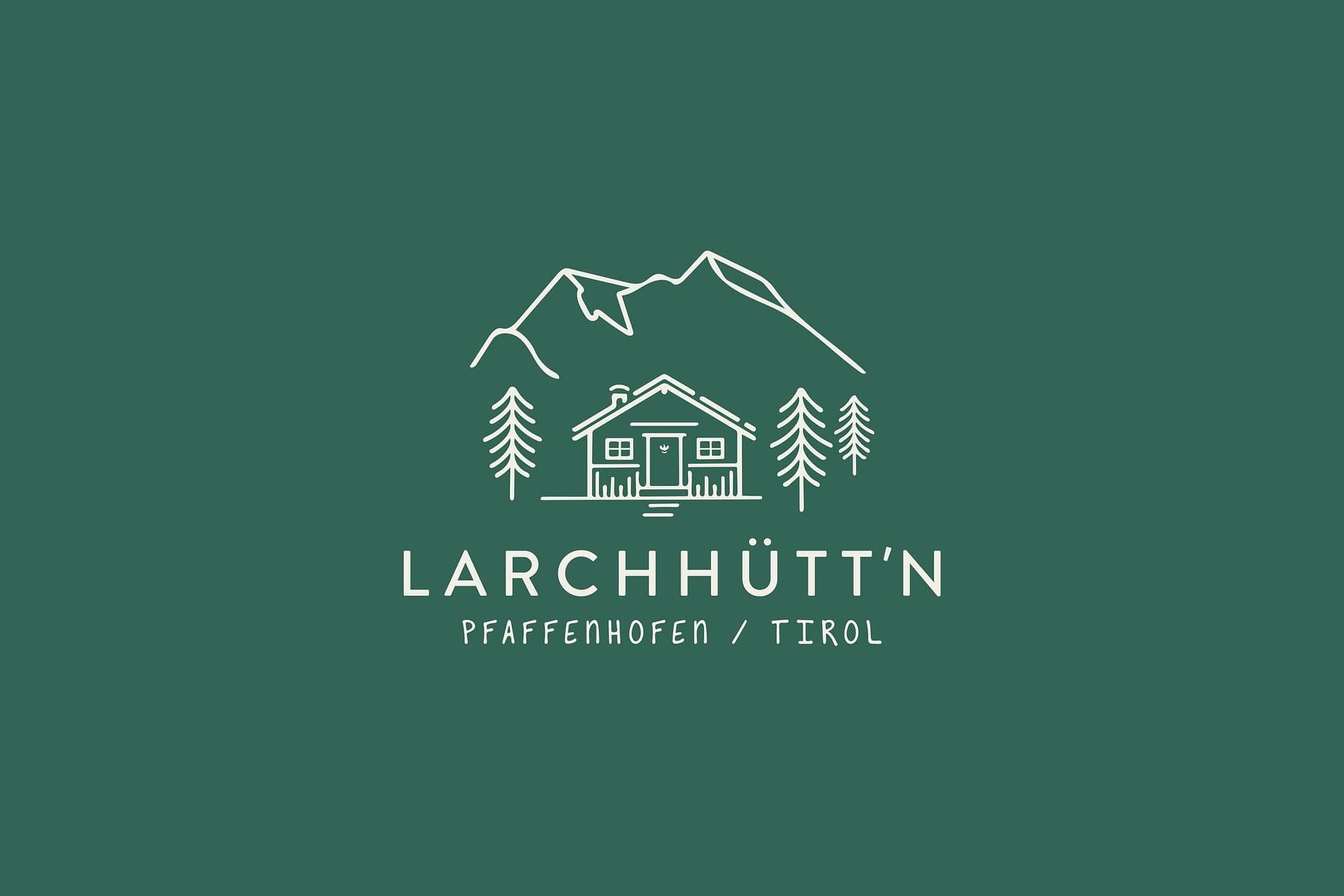 logo webdesign für larchhütte