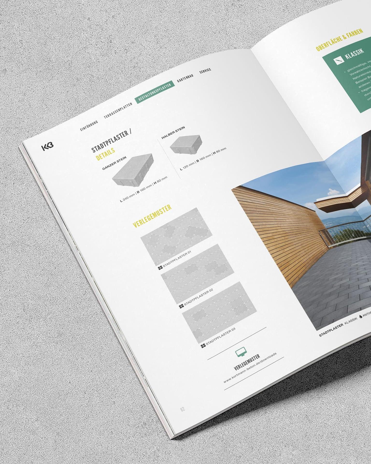 bildbearbeitung katalog für kortmann beton